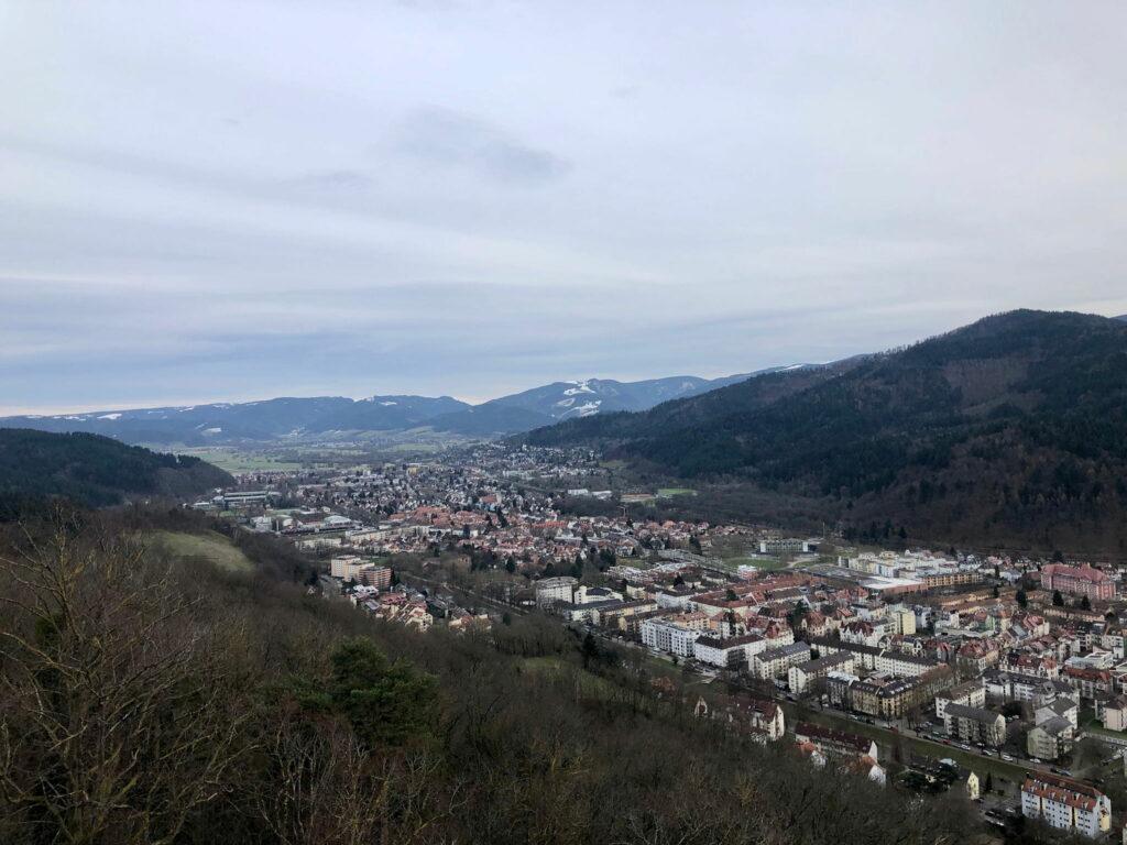 Freiburg von oben.