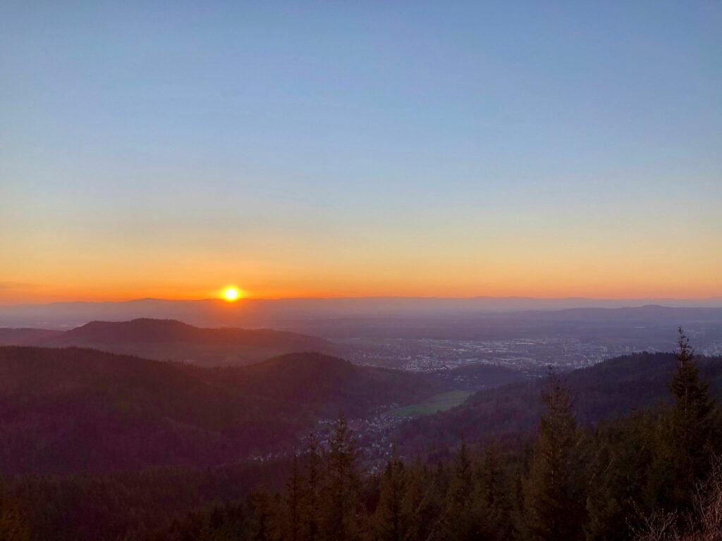 Sonnenuntergang am Kybfelsen