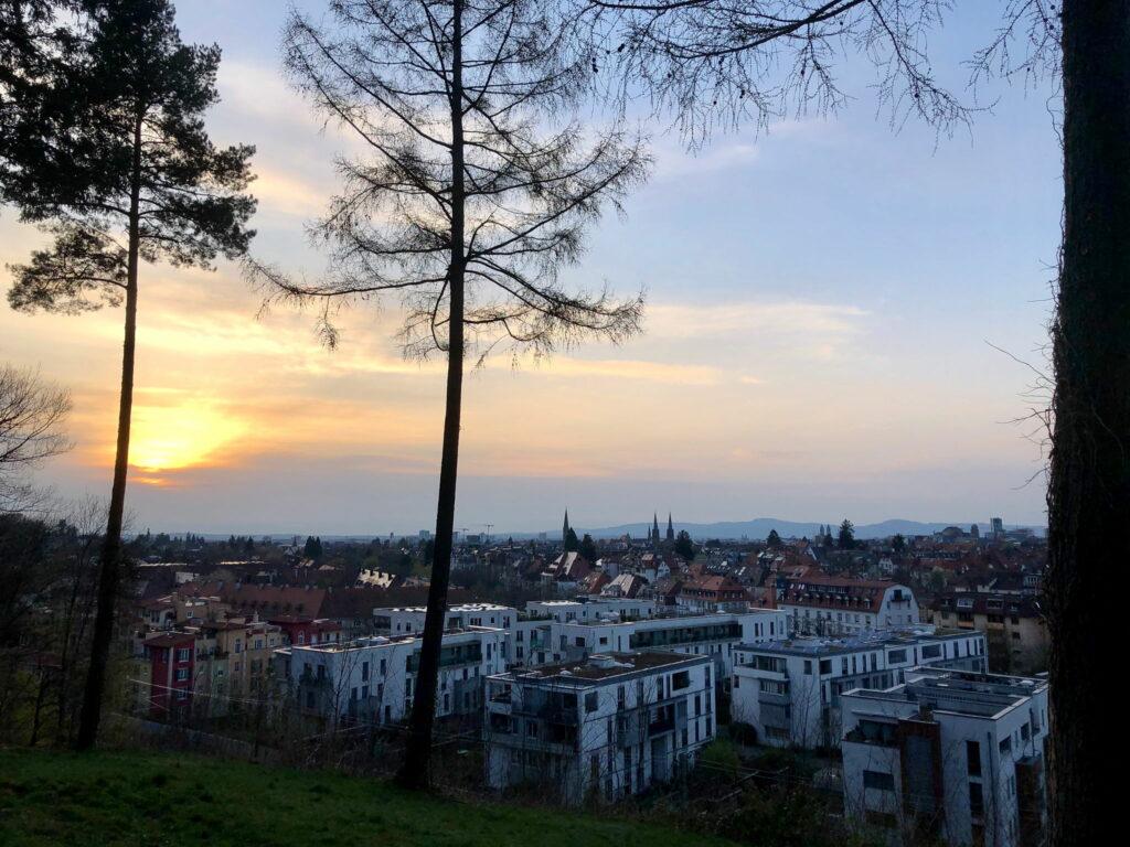 Sonnenuntergang über Freiburg