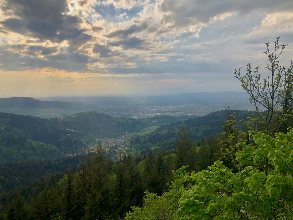Aussicht vom Kybfelsen über Freiburg