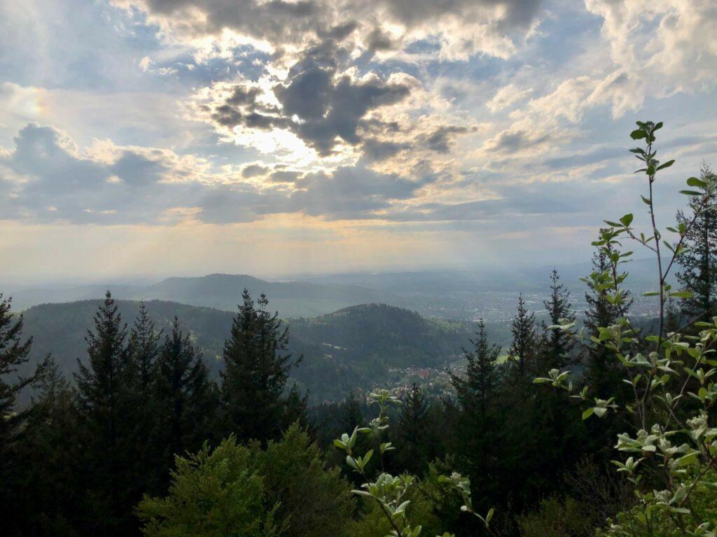 Aussicht vom Kybfelsen nach Westen