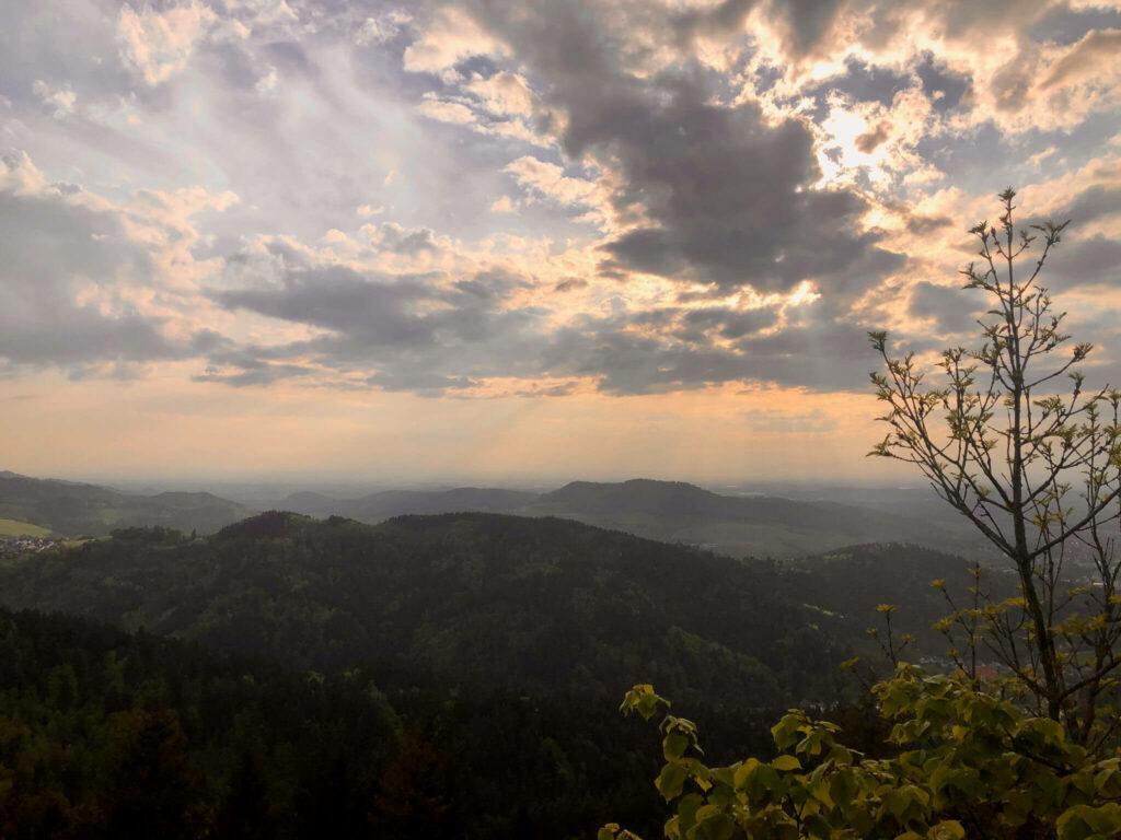 Aussicht vom Kybfelsen nach Südwesten